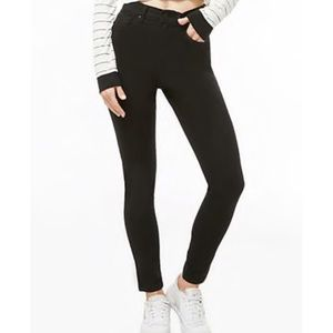 High rise ankle black skinny jeans!